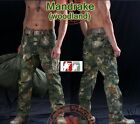 MANDRAKE WOODLAND Military Combat Cargo Pants Ripstop Hunting Trousers Kryptek