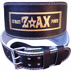 """Leather Weight Lifting Belt Body Building Gym Exercise Back Support Belt 6"""" WIDE"""