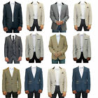 BRAND NEW MARC DARCY ITALIAN DESIGNER TWEED TAILORED MEN'S BLAZERS JACKET