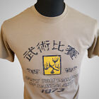 Enter the Dragon Hans Tournament Retro Movie T Shirt Bruce Lee MMA Tan