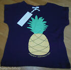 French Connection girl top t-shirt BNWT 4-5 y 110 cm designer pineapple