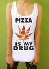 Pizza Weed Summer Streetwear Rocker Womens Tank Top Sleeveless T Shirt Tshirt