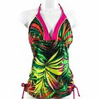 JACLYN SMITH, NWT Women's SWIM SUIT TOP, Tropical Swim Dress,Multi Color/Size