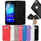 S-Line Soft Silicon Gel Case For Sony Xperia E3+ Free Screen Protector
