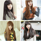fashion sexy womens full long straight/slight curl wigs cosplay smooth hair wig