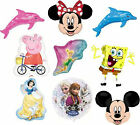 Large Super Shape Foil Character Balloons Mickey Minnie Frozen etc Helium Fill