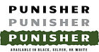 """Jeep Wrangler Side Hood Decal Pair Text """"PUNISHER"""" Your Choice of 3 Colors"""