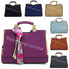 Ladies New Large Faux Leather Office Top Handle Bag