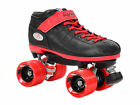 Riedell R3 2015 Limited Edition Quad Roller Speed Skates + 2 Pr Laces Red & Blk