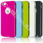 New TPU Back Rubber Case Cover for Apple 4s 5s iPhone with FREE Screen Protector