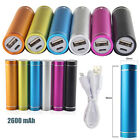 2600MAh USB Round Power Bank Portable Pack Battery Charger For Mobile Phones