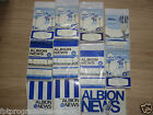 WBA  Home Programmes  1960's   UPDATED 8/6/15 Select from list