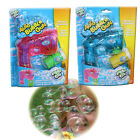 BUBBLE GUN MACHINE AUTO KID LIGHT SOUND SHOOTER BLUE PINK GARDEN LIQUID BOY GIRL