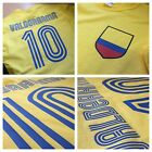 Legend Carlos Valderrama No.10 Columbia Football Soccer World Cup T-Shirt