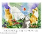 Kitty Cat Families Are Like Fudge with a few Nuts  Wall Art Print