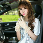 Sexy Women Bridal Evening Wedding Party Prom Driving Costume Lace Gloves