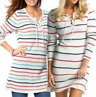 Size UK 6 - 20 Ladies Long Tunic Top or Jumper Dress Ivory Multi Coloured Plus