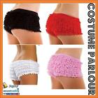 Womens Ladies Ruffled Lace Bloomers Knickers Panties Lingerie Burlesque