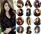 Fashion Cosplay Wig Womens Lady Curly Wavy Hair Full Wigs Party Costume Wig Cap