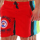 Geographical Norway Quality Herren Polo Badehose Badeshorts Bade Bermuda Shorts