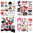DIY Christmas Photo Booth Props Moustache on A Stick Wedding Birthday Party Deco
