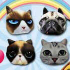 3D Cute Muzzy Cat Face Hot Selling Zipper Case Coin Purse Wallet Makeup Bag Chic