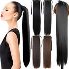 22'' Women Long Straight Steel Synthetic Ribbon Ponytail Hair Piece RP6-1