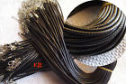 Wholesale 10 Pcs Black Wax Chains Necklace Charms Findings String Cord 1-2 mm