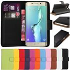 Premium Leather Flip Wallet Case Cover For Samsung Galaxy S6 Edge + Screen Guard