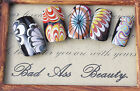Rainbow Water Marble Spiral Marbling Nail Art Water Transfers Decals UV French