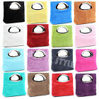 Ladies Real Italian Suede Leather Small Clutch & Evening Bag Tote Italy Bag