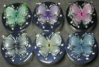 Trinket Box Butterfly Green Purple Pink Grey Lemon Blue Leonardo Collection