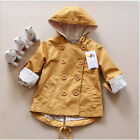 Children fashion tops Girl trench coat Kids double-breasted hoodies Baby jacket