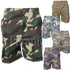 Camouflage Print Cargo Combat Shorts  Mens Size