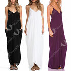 May&Maya Women's V Neckline Low Back All In One Beach Maxi Long Casual Dress