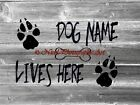 PERSONALIZED Dog Lives Here Original Signed Handmade Matted Picture A755