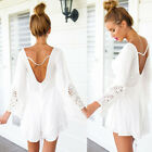 White Sexy Celeb Jumpsuit Playsuit Evening Party Summer Lady Dress Short Romper