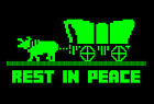 OREGON Dysentery TRAIL Rest In Peace VINTAGE GAME FAN Screenprinted TSHIRT