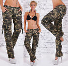 Sexy New Women's Stretchy Camouflage Jeans Trousers Skinny  Combat Style L 499