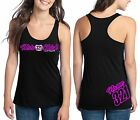 MOTOCROSS MOTO CHICK MX NUMBER PLATE RACERBACK TANK TOP SHIRT JUST RIDE GIRL