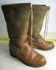 vtg Orvis 1970's Shearling Boots crepe/gum sole warm winter sz 7.5 New Zealand