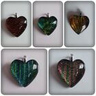 1 x Dichroic Glass Pendant - 20mm - Heart [Various Designs Available]