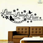 Live Laugh Love, Wall Sticker, Bedroom, Kitchen, Living Room, Wall Decal, [rav7]