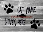 PERSONALIZED Cat Lives Here Original Signed Handmade Matted Picture A764