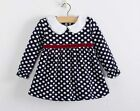 Baby Girl's Long Sleeve Thickening Lace Polka Dot Party Princess Dresss