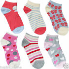 NEW 3 PACK GIRLS CHILDREN KIDS TODDLERS PRINTED DESIGN NOVELTY TRAINER SOCKS