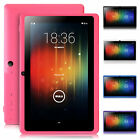 "IRULU 8GB 7"" Tablet PC Google Android 4.4 Kit Kat Quad Core Cam Multi-Color"