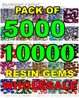 5000/10000 RESIN FLAT BACK RHINESTONES DIAMANTE CLEAR NAIL ART CRAFT GEMS 2-6mm