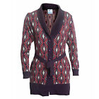 Winter Fashion Wool Blend Cardigan Coat Full Sleeves With Belt for Ladies
