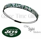 New York Jets Team Color Womens Rhinestone Bling Headband Wear w/ Jersey NWT